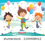 vector illustration of clown... | Shutterstock .eps vector #1144408412