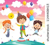vector illustration of clown... | Shutterstock .eps vector #1144408415