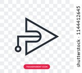 right arrow vector icon... | Shutterstock .eps vector #1144412645