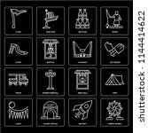 set of 16 icons such as ferris...