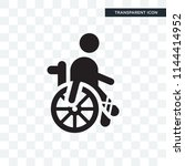 disabled vector icon isolated... | Shutterstock .eps vector #1144414952
