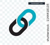 chain vector icon isolated on... | Shutterstock .eps vector #1144418135