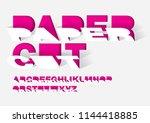 paper cut paper typography... | Shutterstock .eps vector #1144418885