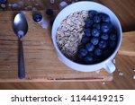 oatmeal  porridge  porridge... | Shutterstock . vector #1144419215