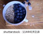 oatmeal  porridge  porridge... | Shutterstock . vector #1144419218