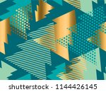 geometric xmas tree  seamless... | Shutterstock .eps vector #1144426145