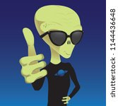 alien thumb up   Shutterstock .eps vector #1144436648