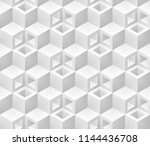 neutral gray cubes isometric... | Shutterstock .eps vector #1144436708