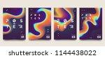 modern marble ink poster... | Shutterstock .eps vector #1144438022