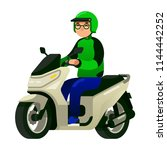 commercial motorcycle taxi... | Shutterstock .eps vector #1144442252