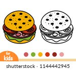 coloring book for children ... | Shutterstock .eps vector #1144442945