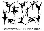 ballet dancer woman in... | Shutterstock .eps vector #1144451885