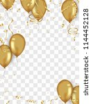 confetti background and gold... | Shutterstock .eps vector #1144452128