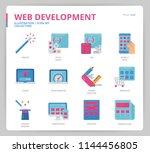 web development icon set | Shutterstock .eps vector #1144456805