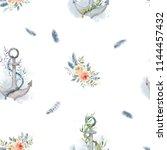 watercolor background seamless... | Shutterstock . vector #1144457432
