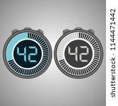 electronic digital stopwatch.... | Shutterstock .eps vector #1144471442