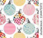 seamless pattern. christmas... | Shutterstock .eps vector #1144472372