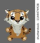 vector illustration of tiger... | Shutterstock .eps vector #1144474928