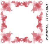 dark red watercolor ornate... | Shutterstock .eps vector #1144475825