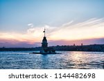 landscape of the maiden's tower.... | Shutterstock . vector #1144482698