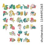 english alphabet. abc. letters. ... | Shutterstock .eps vector #1144491365