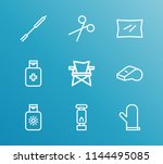 camp icon set and camp chair... | Shutterstock .eps vector #1144495085