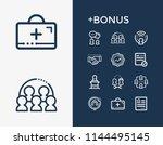 human resource icon set and kpi ...