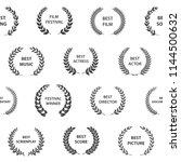 black and white film award... | Shutterstock .eps vector #1144500632