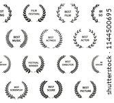 black and white film award... | Shutterstock .eps vector #1144500695