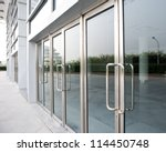 glass door of the office... | Shutterstock . vector #114450748