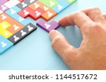 image of tangram puzzle blocks... | Shutterstock . vector #1144517672