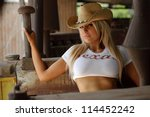 sexy cowgirl | Shutterstock . vector #114452242
