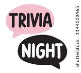 trivia night. vector hand drawn ... | Shutterstock .eps vector #1144523465