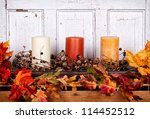 Autumn Still Life With Candles...
