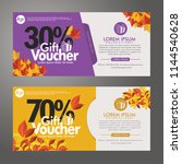 discount voucher template with... | Shutterstock .eps vector #1144540628