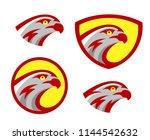 vector falcon or hawk head...   Shutterstock .eps vector #1144542632