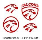 vector falcon or hawk head...   Shutterstock .eps vector #1144542635