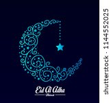 happy eid mubarak has mean... | Shutterstock .eps vector #1144552025