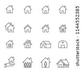 house line icon set vector... | Shutterstock .eps vector #1144552385