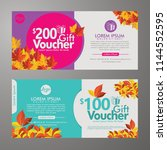 discount voucher template with... | Shutterstock .eps vector #1144552595