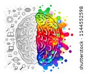 human brain concept logic and... | Shutterstock .eps vector #1144552598