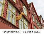 bergen  norway. view of... | Shutterstock . vector #1144554668