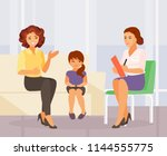 mother and daughter in the... | Shutterstock .eps vector #1144555775