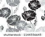 elegant seamless pattern with... | Shutterstock .eps vector #1144556645