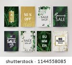 sale background template.... | Shutterstock .eps vector #1144558085