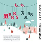Xmas Vector Background With...