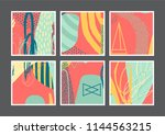 set of creative universal... | Shutterstock .eps vector #1144563215