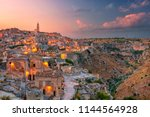 matera  italy. cityscape aerial ... | Shutterstock . vector #1144564928