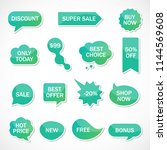 vector stickers  price tag ... | Shutterstock .eps vector #1144569608