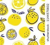 stylish oranges fruits seamless ... | Shutterstock .eps vector #1144570832